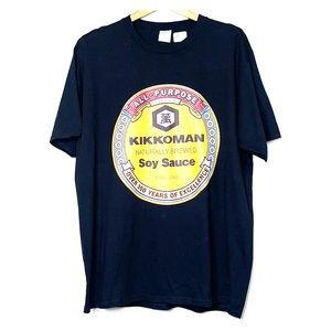 Tops - NWT KIKKOMAN Soy Sauce Black Cotton T-Shirt Tee